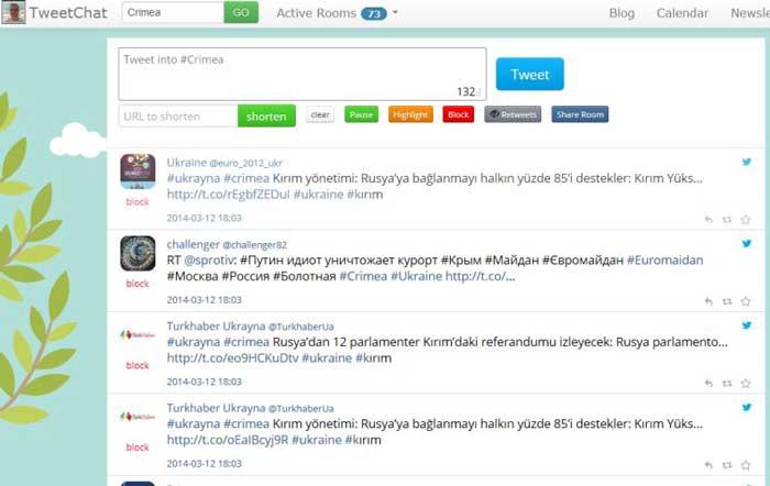 herramientas gratuitas para proyectar tweets-TweetChat