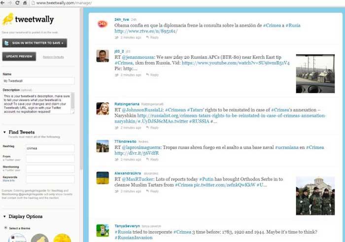 herramientas gratuitas para proyectar tweets-Tweetwally
