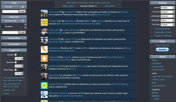 herramientas gratuitas para proyectar tweets-TwitterFall