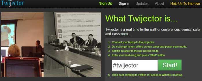 herramientas gratuitas para proyectar tweets-twijector