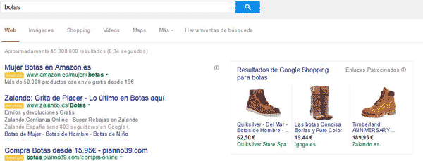 examen google-shoping